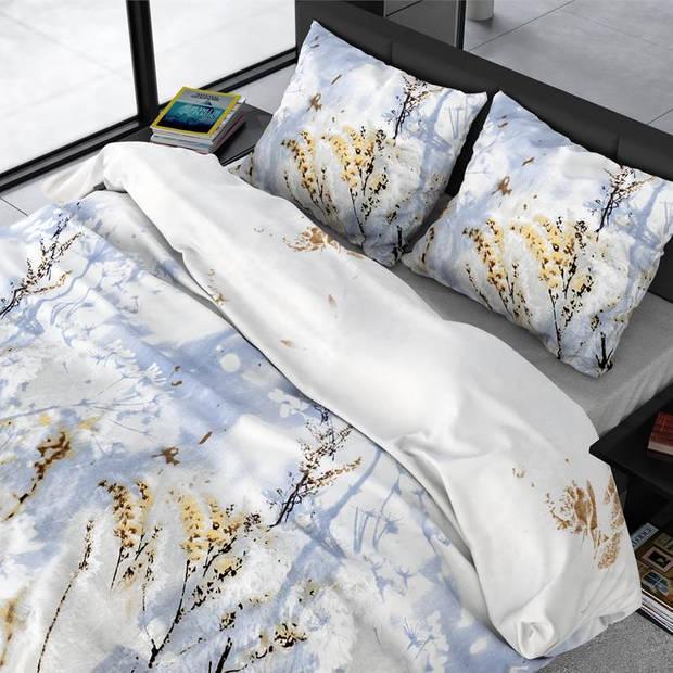 Dreamhouse Bedding Janine dekbedovertrek - 2-persoons (200x200/220 cm + 2 slopen) - Katoen satijn - Grey