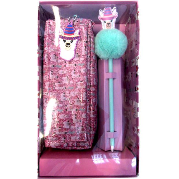 Lama Etui 21 cm - Giftbox - inclusief pen