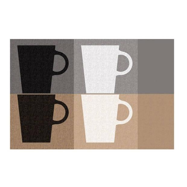 Set van 4 Placemats, Koffiekopjes - Kela Picture