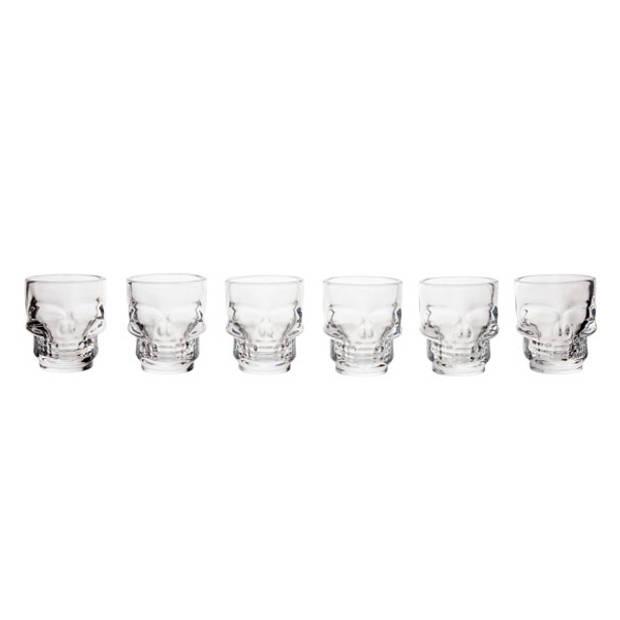 Cosy & Trendy Shotglazen Doodskop - Ø 5 x 5.8 cm - Set-6