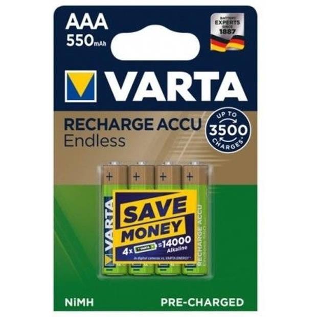 "VARTA NiMH batterij ""RECHARGE ACCU eindeloze"" AAA, 550 mAh"
