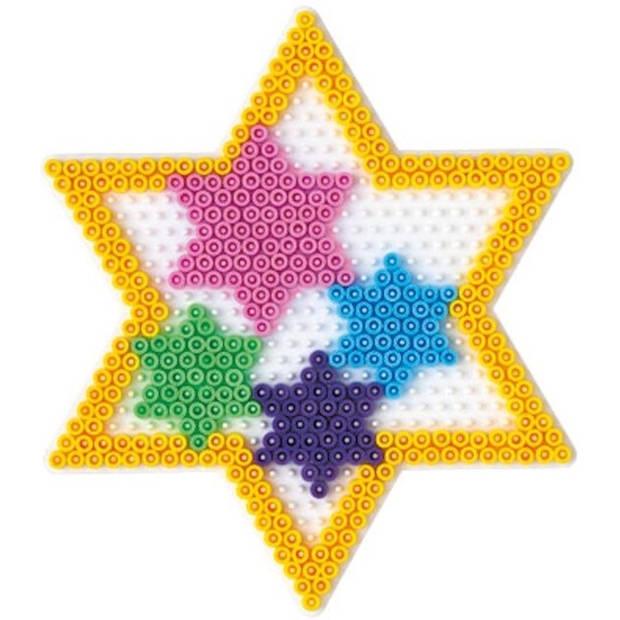 Hama strijkkralen grondplaat ster groot