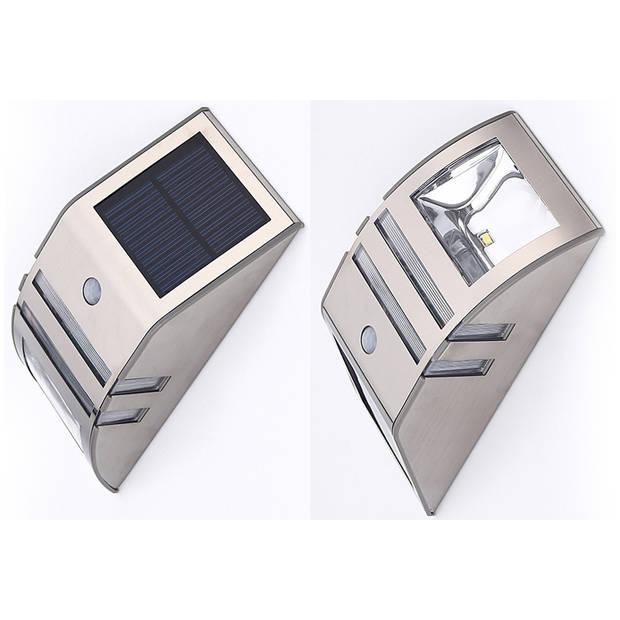 Luxe Solar Buitenlamp - RVS - Wit Licht