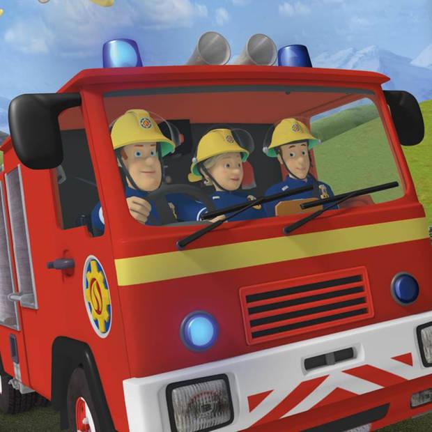 Brandweerman Sam dekbedovertrek - Katoen - Ledikant (100x135 cm + 1 sloop) - Multi