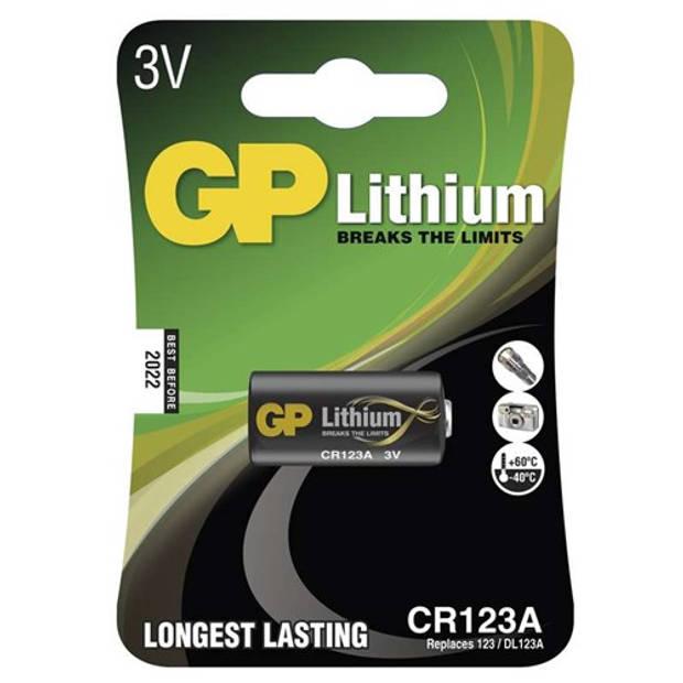 GP Lithium CR123 3V blister 1