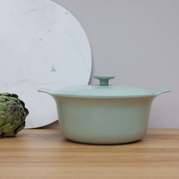 Kookpan met deksel 24 cm, Gietijzer, Groen - BergHOFF Ron