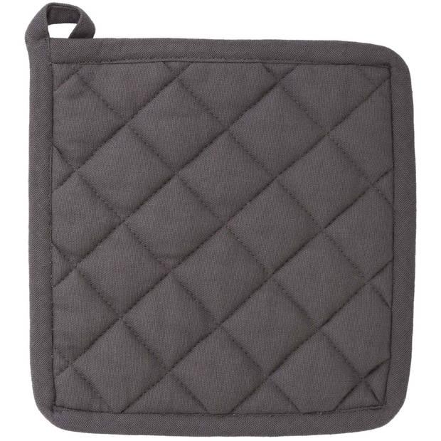 Blokker pannenlap - grijs