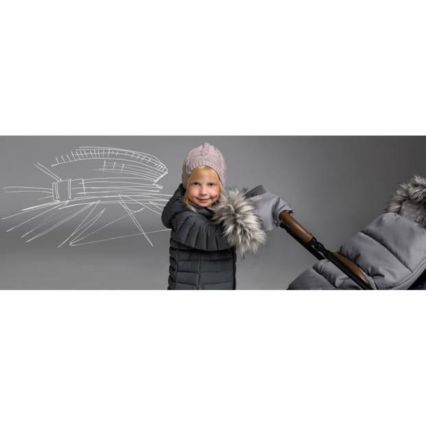 Handwarmers Kinderwagen & Buggy met imitatie bont - Set van 2 - Grijs