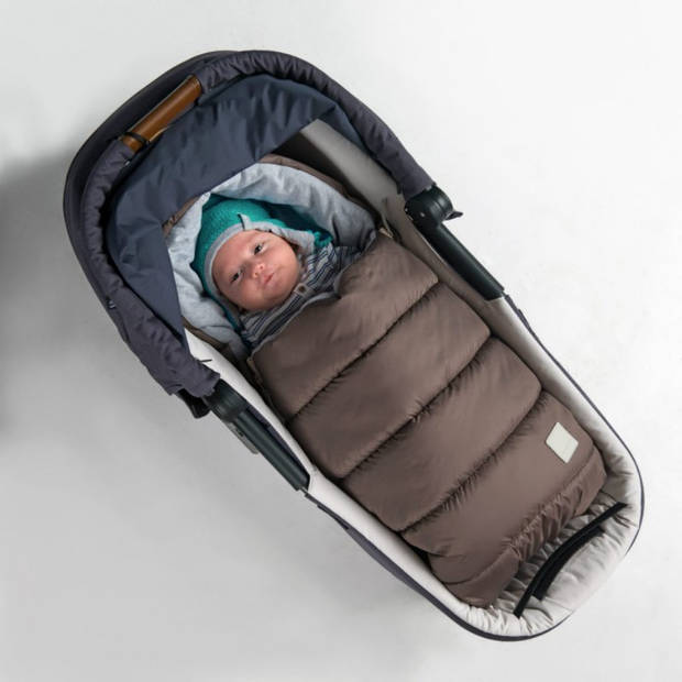 Voetenzak - slaapzak oeko tex dons - van 0 tot 1 jaar voor gebruik in kinderwagen/autostoel - Bruin