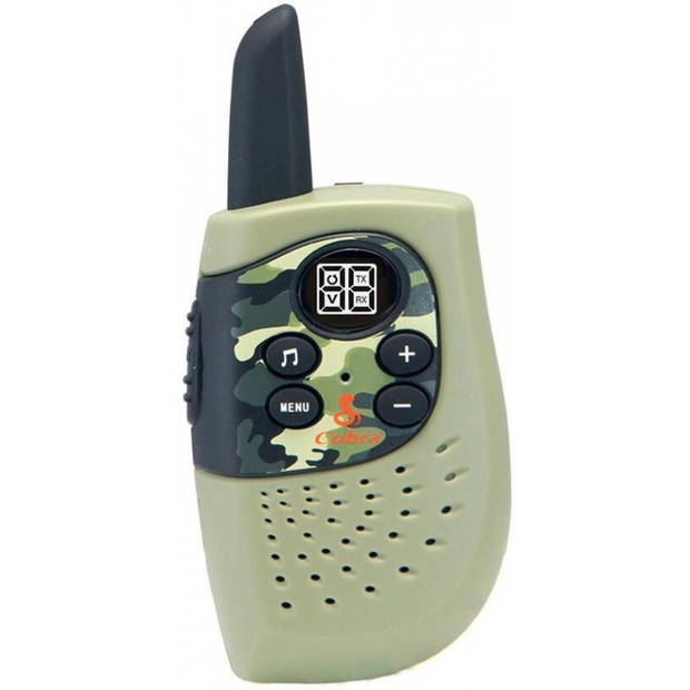 Cobra HM 230 G Compacte Walkie Talkie met 3 Km bereik, 8 kanalen energiebesparende modus - Groen, camouflage