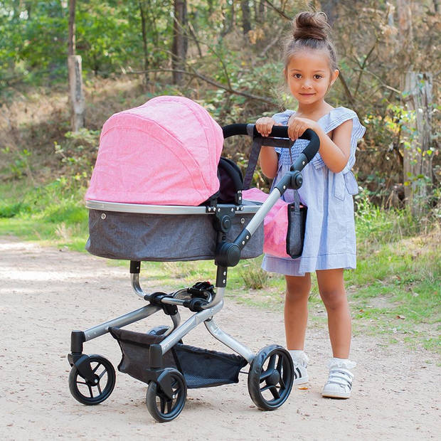 Bandits and Angels - Poppenwagen Classic Angel 2in1 roze
