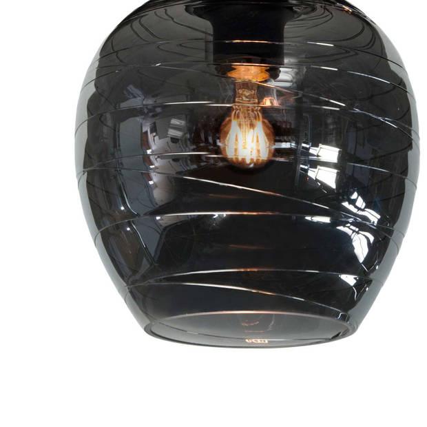 Highlight Plafondlamp Fantasy Apple 3 lichts Ø 45 cm rook glas