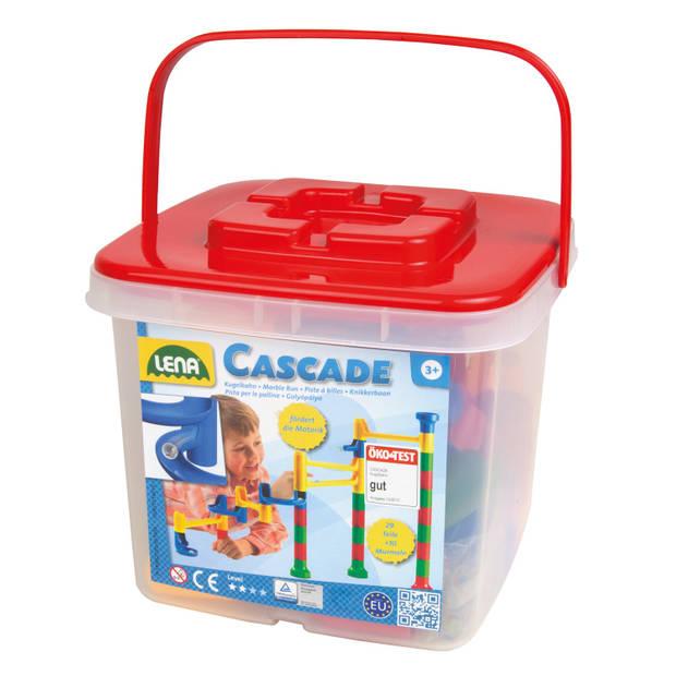 Lena Cascade knikkerbaan in opbergbox