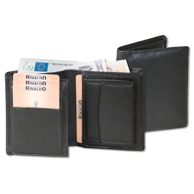 Rinaldo Kleine Leren Portemonnee Billfold - RFID bescherming Zwart