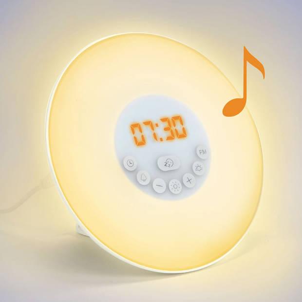 Fedec Wake Up Light - RGB Lichtwekker - FM Radio - Sunrise & Sunset