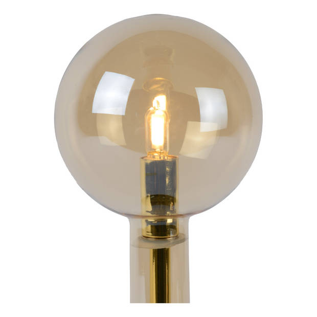 Lucide LONE Tafellamp G9/28W Amber glas/ Messing
