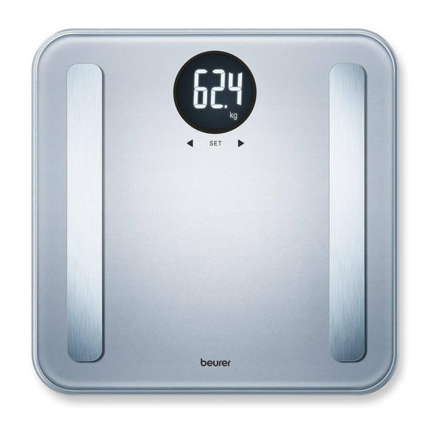 Beurer BF198 - Personenweegschaal lichaamsanalyse - 180kg - Zilver