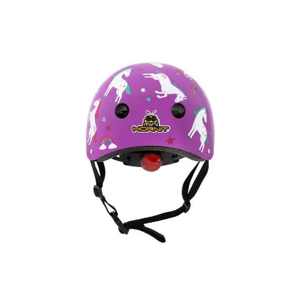 Mini Hornit Lids Fietshelm voor Kinderen - met LED achterlicht - Unicorn (M)