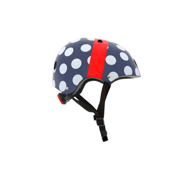 Mini Hornit Lids Fietshelm voor Kinderen - met LED achterlicht - Polka Dot (S)