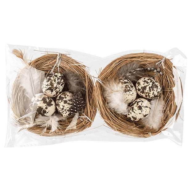 Nest met eieren 2 stuks