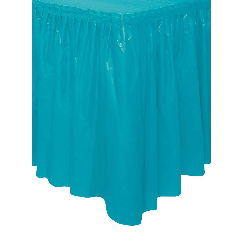 Korting Unique Tafelrok Zelfklevend Turquoise 426 X 73 Cm