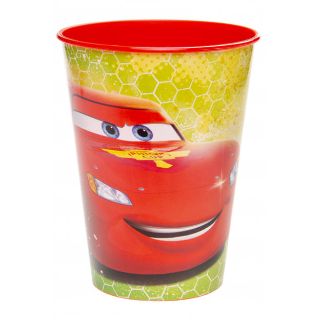 LG-Imports drinkbeker cars 260 ml rood/geel