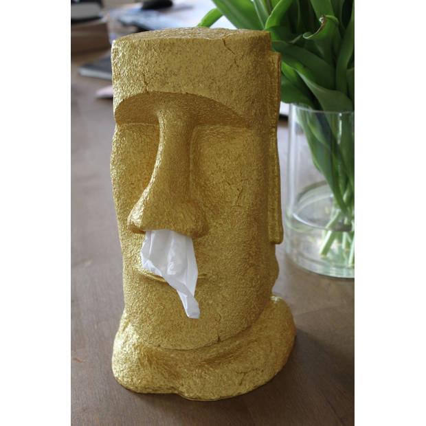 Rotary Hero Moai Tissue Box Houder - Tissuehouder - Goud - Special Edition