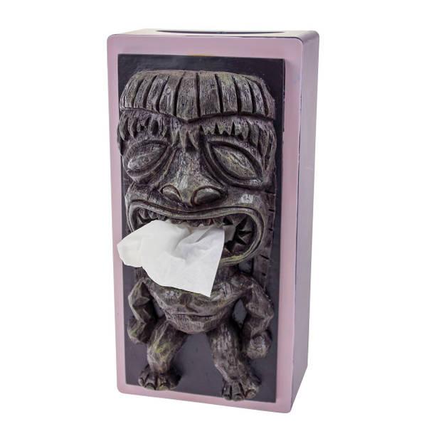 Rotary Hero Tiki Tissue box Cover - Grijs