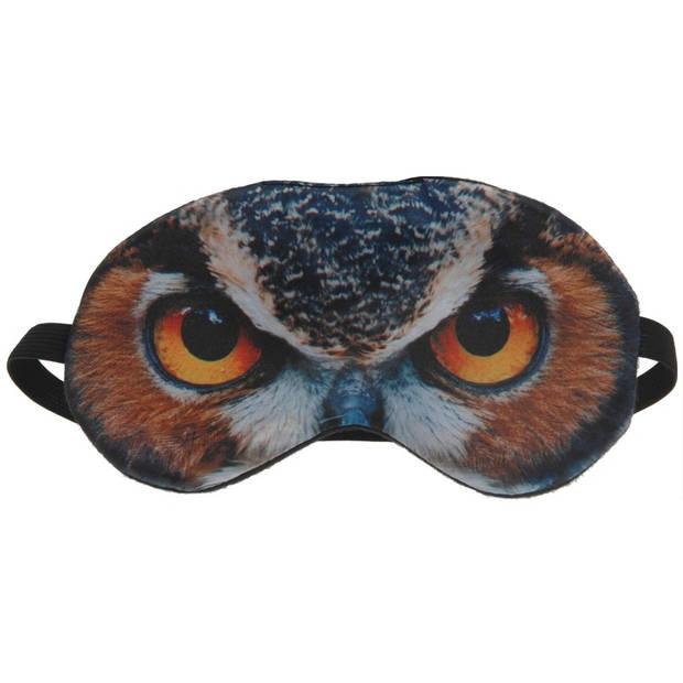 Dieren slaapmasker/oogmasker uil - Slaapmaskers voor in trein/vliegtuig/slaapkamer