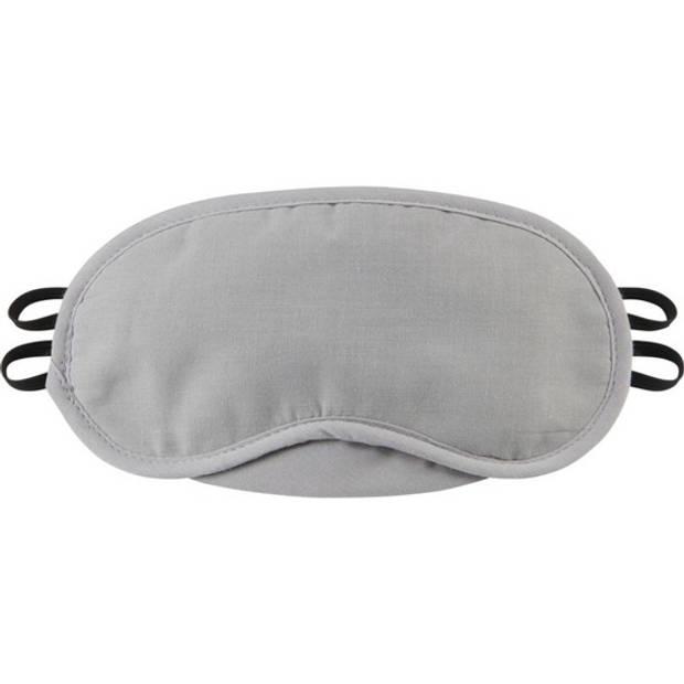 Grijs verduisterend oogmasker met 2 banden - Slaapmaskers/Reismaskers - Handig voor op reis/vakantie