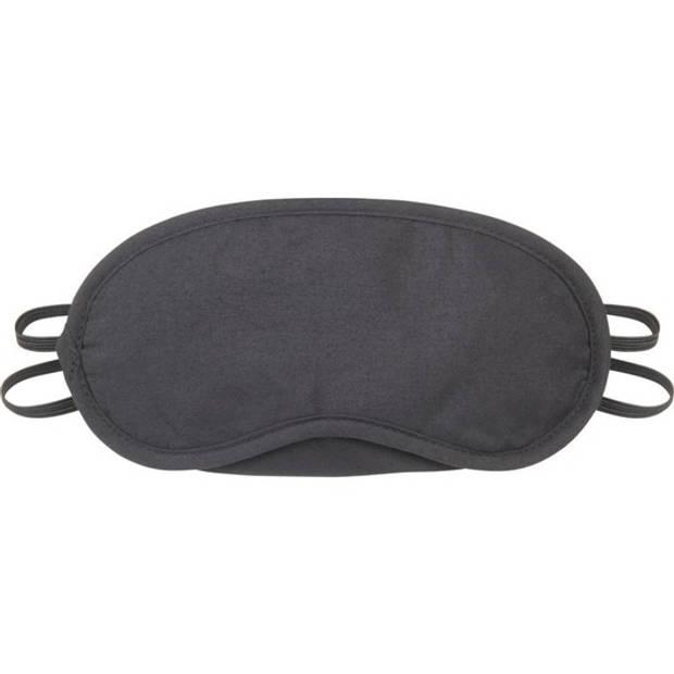 Zwart verduisterend oogmasker met 2 banden - Slaapmaskers/Reismaskers - Handig voor op reis/vakantie
