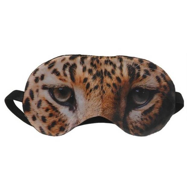 Dieren slaapmasker/oogmasker tijger voor volwassenen - Slaapmaskers voor in trein/vliegtuig/slaapkamer