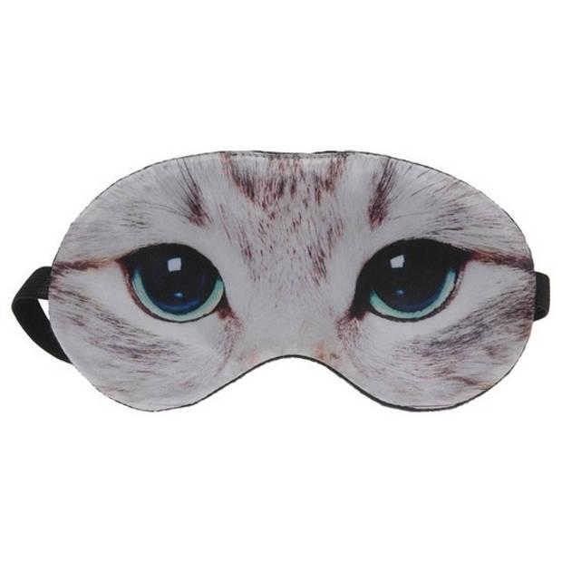 Dieren slaapmasker/oogmasker poes/kat - Slaapmaskers voor in trein/vliegtuig/slaapkamer