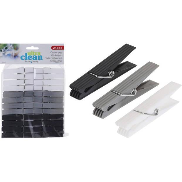 48x Kunststof wasknijpers 8 cm - Huishoudelijke producten wasknijpers