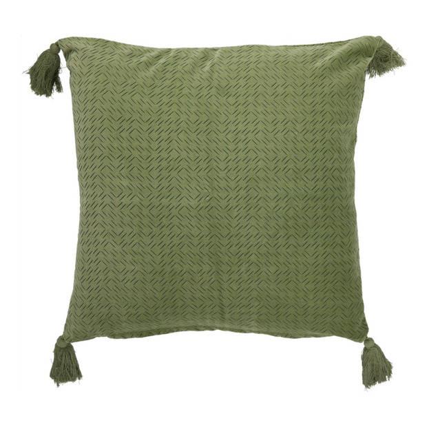 Blokker kussenhoes Madison - 45x45 cm - groen