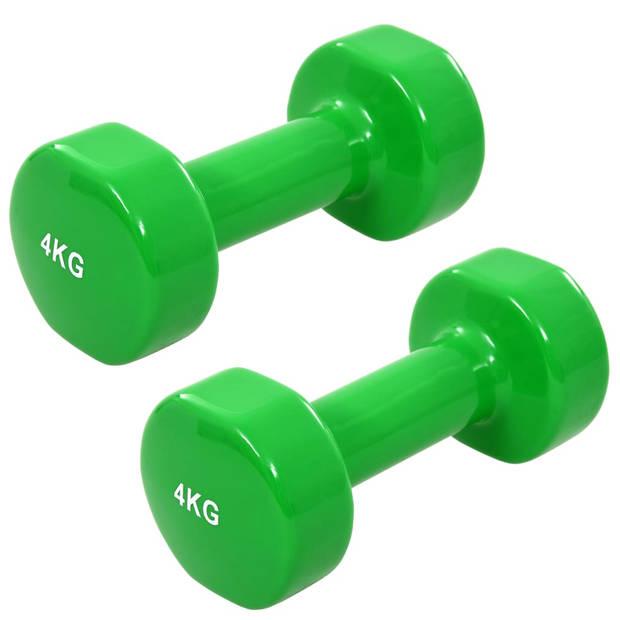 vidaXL Halter 2 st 8 kg gietijzer groen
