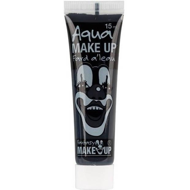 Zwarte horror schmink op waterbasis tube 15 ml - Schminken - Schmink halloween/carnaval - Make-up