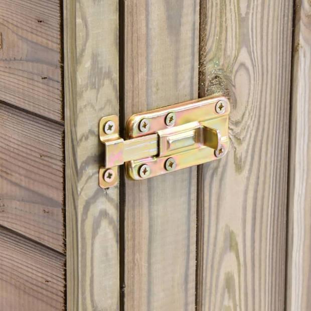 vidaXL Tuinschuur met deur 77x37x178 cm geïmpregneerd grenenhout