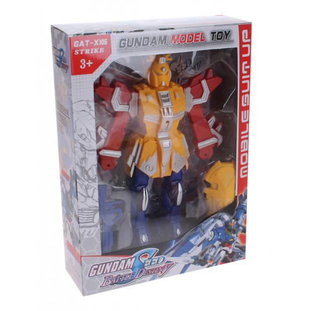 LG-Imports GAT-X105 Strike Gundam speelfiguur 22 cm geel