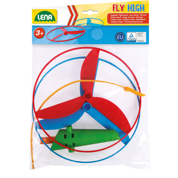 Lena Flight game 20 cm blauw/rood 4-delig
