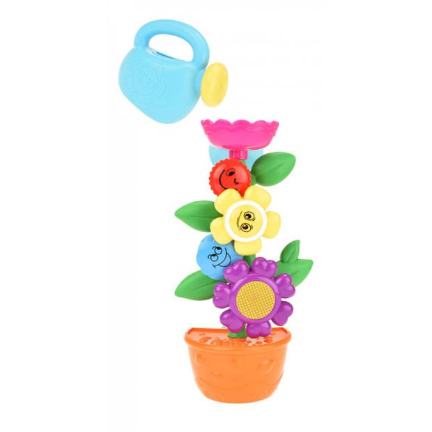 Toi-Toys badspeelgoed bloemenrad 24 x 14 cm 2-delig