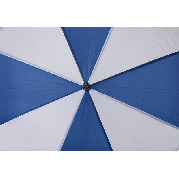 Free and Easy paraplu recht handvat 100 cm blauw
