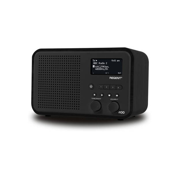 Ferguson i100 - Radio met DAB/DAB+/FM en Bluetooth - Zwart