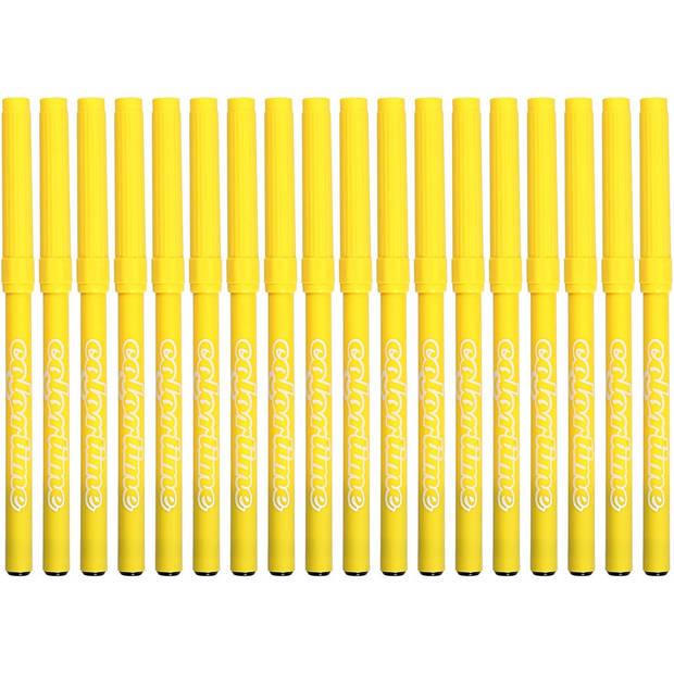Colortime stiften lijndikte 2 mm citroengeel 18 stuks
