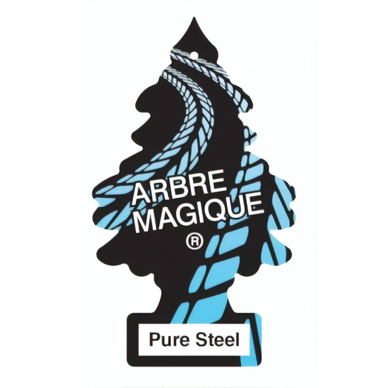 Korting Arbre Magique Luchtverfrisser Pure Steel 12 Cm Zwart