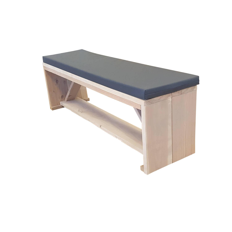 Wood4you - Tuinbank Nick Douglashout Met Kussen -160lx43hx38d Cm
