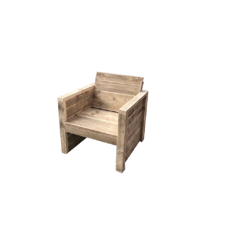 Wood4you Tuinstoel Vlieland Steigerhout 65lx72hx57d Cm