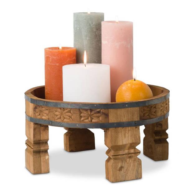 Chakki tafel - hout - 30x30x15 cm