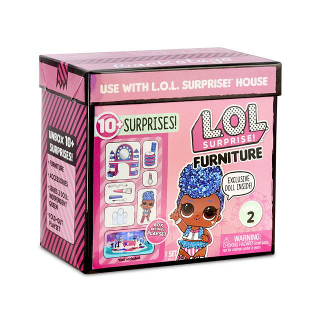 L.O.L. Surprise Furniture- Backstage with Independent Queen