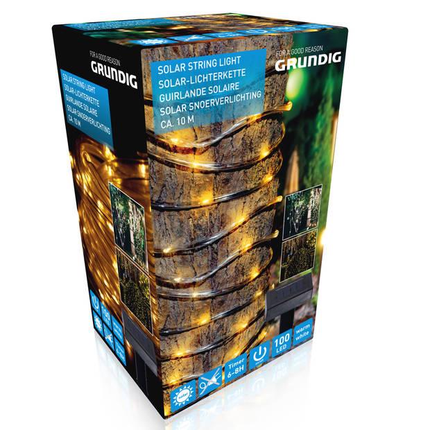 Grundig Lichtsnoer - Solar - 100 LED's - Warm licht - 10 Meter